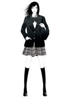 制服姿の高校生