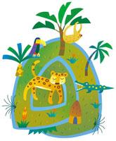 ヒョウとワニとナマケモノと鳥