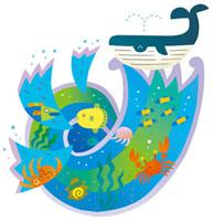 クジラと海の生き物