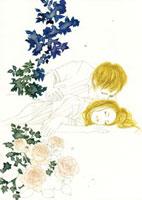 眠る女性を眺める男性