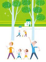 ウォーキングをする家族 20037005380| 写真素材・ストックフォト・画像・イラスト素材|アマナイメージズ