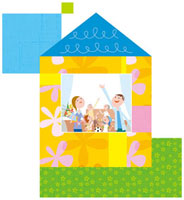 家の中の三世代家族 20037005389| 写真素材・ストックフォト・画像・イラスト素材|アマナイメージズ