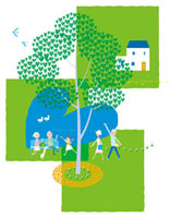 ハートの木と三世代家族