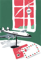 飛行機のオブジェと手紙 旅行イメージ 20037005518| 写真素材・ストックフォト・画像・イラスト素材|アマナイメージズ