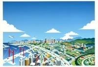 海辺の街とビル群 20037005549| 写真素材・ストックフォト・画像・イラスト素材|アマナイメージズ