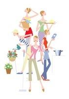 女性のライフスタイル 家事やガーデニング 20037005675| 写真素材・ストックフォト・画像・イラスト素材|アマナイメージズ
