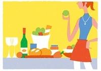 野菜を持つ女性 20037006440| 写真素材・ストックフォト・画像・イラスト素材|アマナイメージズ