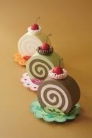 3つ並んだロールケーキ