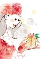 プレゼントボックスを持った女性 20037006838| 写真素材・ストックフォト・画像・イラスト素材|アマナイメージズ