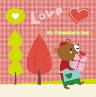 プレゼントボックスを持つクマ