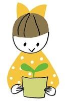 芽を育てる女の子 20037007154| 写真素材・ストックフォト・画像・イラスト素材|アマナイメージズ