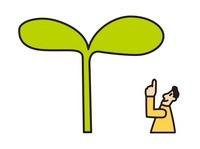 大きな芽と男性 20037007207| 写真素材・ストックフォト・画像・イラスト素材|アマナイメージズ