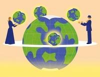 地球を支える男女