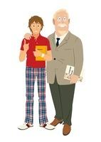 英語の先生と男性