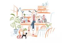 キッチンで料理をする女性 20037007475| 写真素材・ストックフォト・画像・イラスト素材|アマナイメージズ