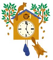 時計に住むモモンガ
