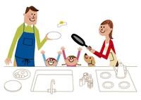 料理を楽しむ家族イメージ