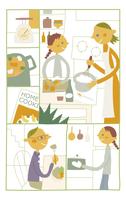 料理を手伝う女の子