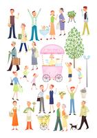 街の暮らしを楽しむ人々 20037008212| 写真素材・ストックフォト・画像・イラスト素材|アマナイメージズ