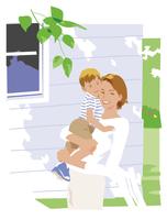 子供を抱っこする母親 20037008327  写真素材・ストックフォト・画像・イラスト素材 アマナイメージズ