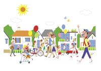 街を行きかう人々 20037008439| 写真素材・ストックフォト・画像・イラスト素材|アマナイメージズ