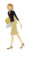 書類を抱える女性 ビジネスイメージ