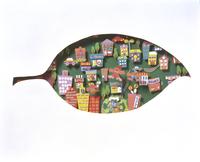 葉の形の街 20037008683| 写真素材・ストックフォト・画像・イラスト素材|アマナイメージズ