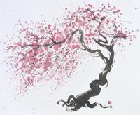 桜 水墨画