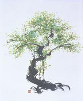 木 水墨画
