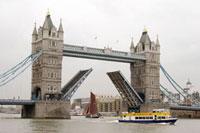 Opened Tower bridge in London