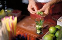Preparing a cocktail