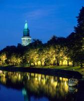 Aurajoki river and Turku 20038005008| 写真素材・ストックフォト・画像・イラスト素材|アマナイメージズ