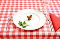 Consuming chicken