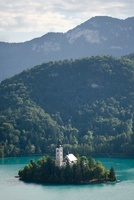 Island in the Bled lake