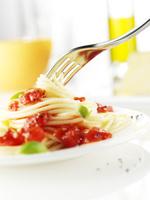 Close-up of spaghetti