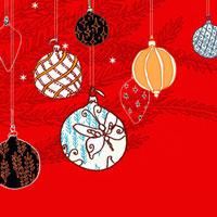 Christmas ornaments hanging from tree 20039001528| 写真素材・ストックフォト・画像・イラスト素材|アマナイメージズ