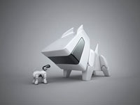 Large and small robotic dog