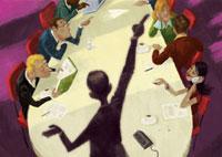 Business people having meeting in conference room 20039002296| 写真素材・ストックフォト・画像・イラスト素材|アマナイメージズ