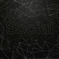 Network of dots and lines that spell �esocial�f