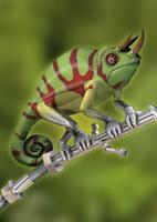 Robotic hybrid chameleon 20039003307| 写真素材・ストックフォト・画像・イラスト素材|アマナイメージズ