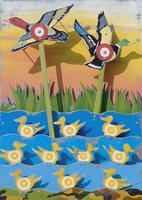 Ducks in shooting game