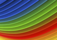 Abstract full frame backgrounds pattern of multicolored curv