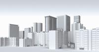 White city skyscraper buildings