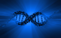 Blue dna double helix