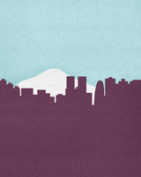 Silhouette of Mount Fuji and Tokyo skyline