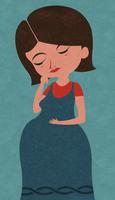Anxious pregnant woman  20039007118| 写真素材・ストックフォト・画像・イラスト素材|アマナイメージズ