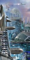Futuristic cityscape 20039007130| 写真素材・ストックフォト・画像・イラスト素材|アマナイメージズ