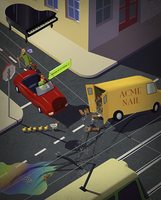 Hazards and dangers for drivers and pedestrians on the road