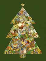 Christmas tree decorated in surreal colorful pattern  20039007990| 写真素材・ストックフォト・画像・イラスト素材|アマナイメージズ