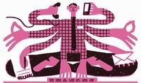 Serene businessman multitasking in lotus position 20039008163| 写真素材・ストックフォト・画像・イラスト素材|アマナイメージズ